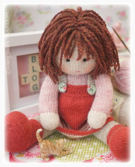Chrystal: Toy/ Doll Knitting Pattern/ Knitted Doll/ Plus FREE Pdf for 'A Simply Sewn Pinafore'/ INSTANT Download #toydoll