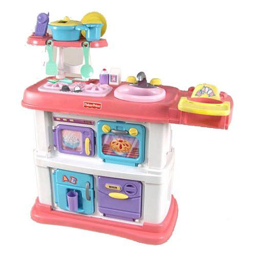 Amazon Com Fisher Price Grow With Me Cook And Care Pink Kitchen Toys Games Pink Kitchen Pretend Play Kitchen Fisher Price