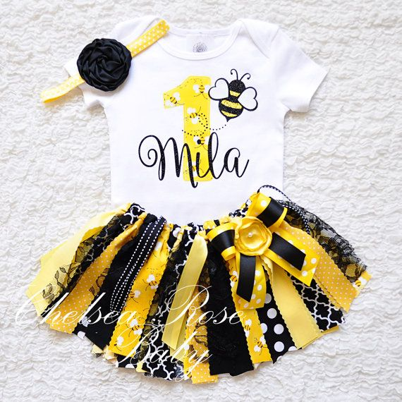 9c8b8a403 Bumble bee Birthday Outfit Birthday tutu 1st Birthday Outfit Girls ...