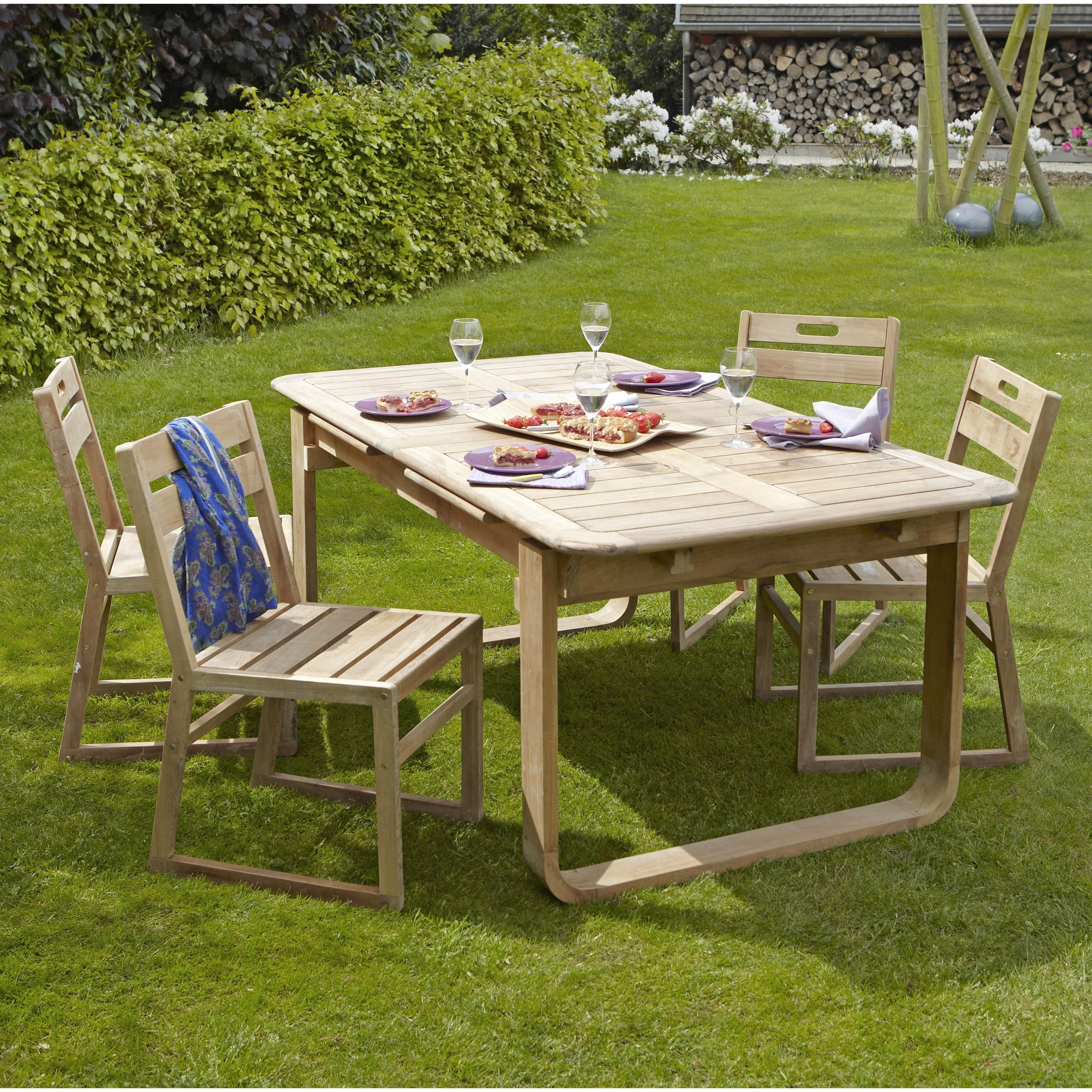 Salon De Jardin Resort Naterial Brun Marron 6 Personnes Leroy Merlin Table De Jardin Salon De Jardin Mobilier Jardin