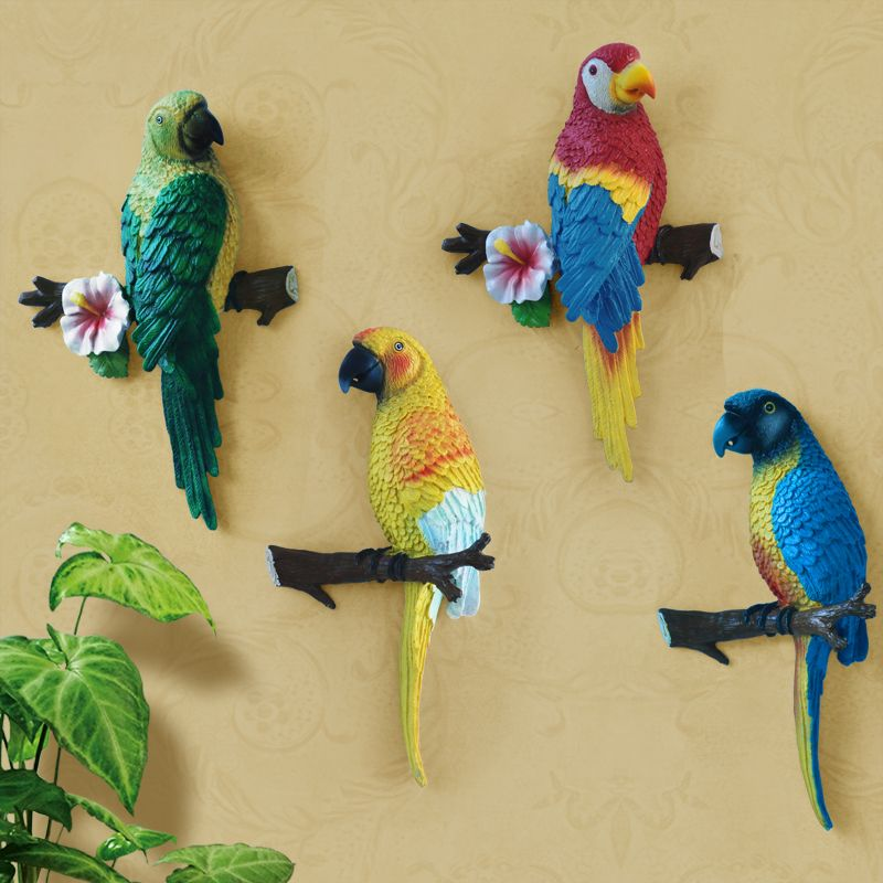 Big Size Lovely Resin Bird Crafts Artificial Birds Garden Home ...