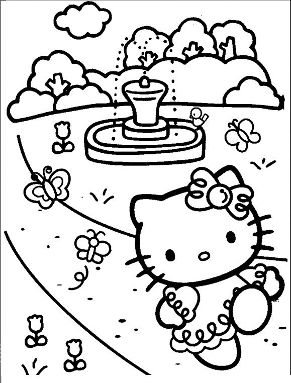Top 30 Hello Kitty Coloring Pages To Print    freecoloring-pages - new coloring pages with hello kitty