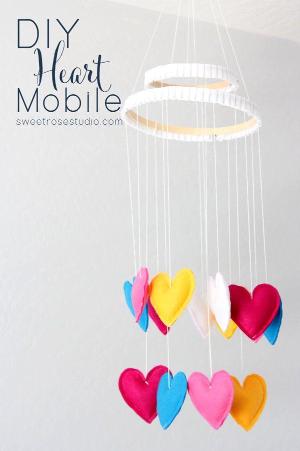 Diy Heart Mobile Diy Home Decor Ideas Pinterest Rose Studio