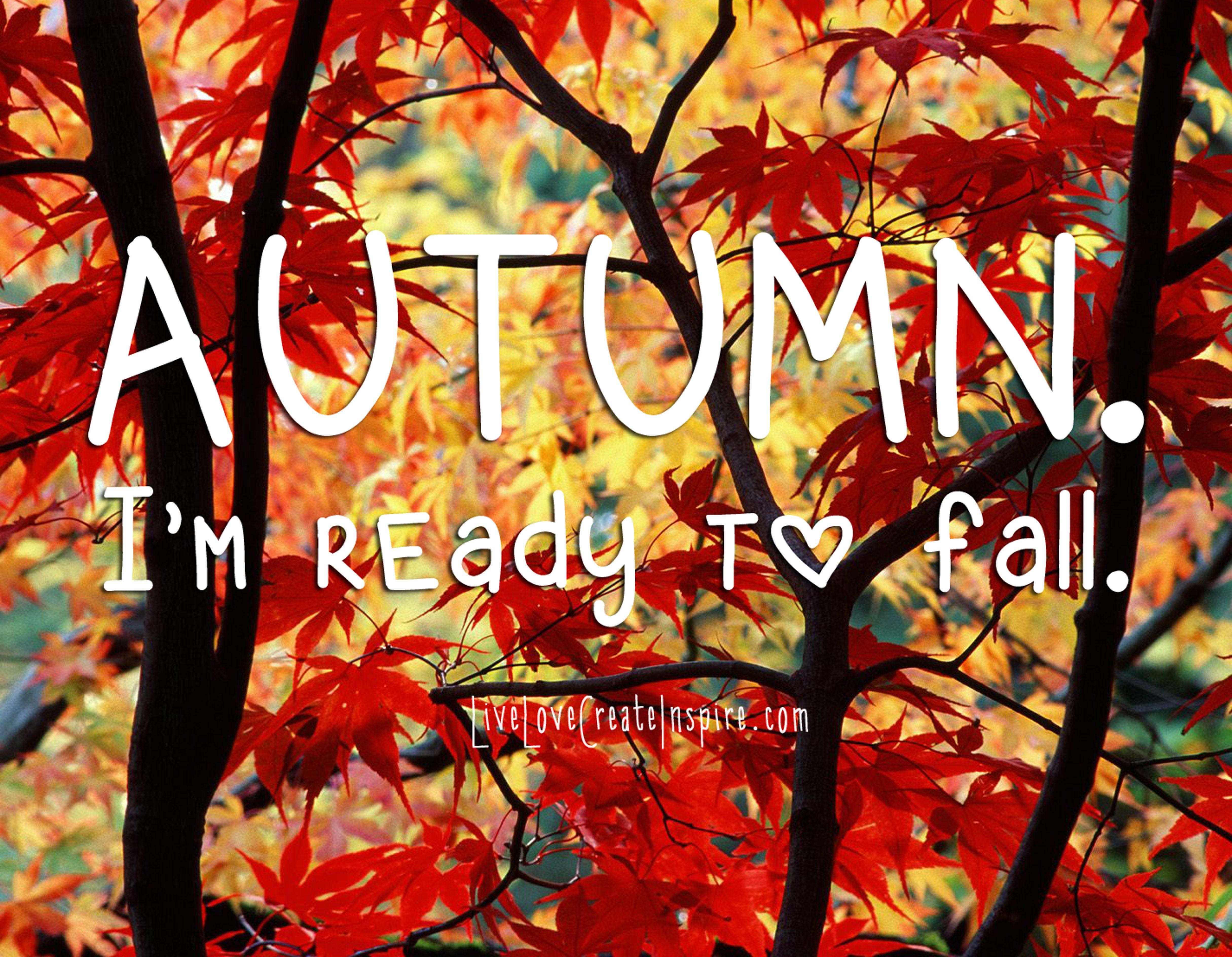 Autumn, Iu0027m Ready To Fall Autumn Fall Fall Quotes Hello Fall Hello Autumn  Fall Images