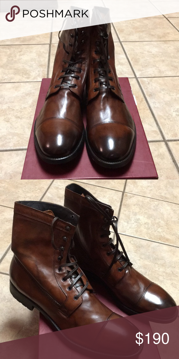 a429811cc34 NIB NEW To Boot New York Boots New To Boot New York- Lincoln boots. Cognac.  Size 13M. Style 7973N. Make an offer To Boot New York Shoes Boots