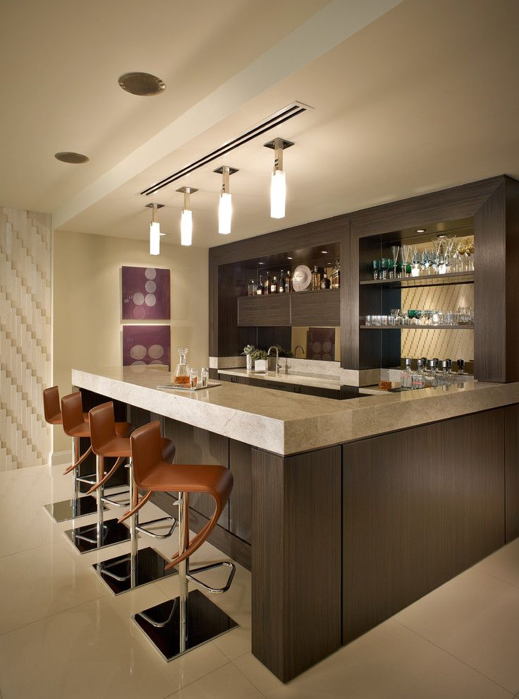 Interior Bar Counter Design For Home. Basement Wet Bar Design Ideas    Modern Home Interior