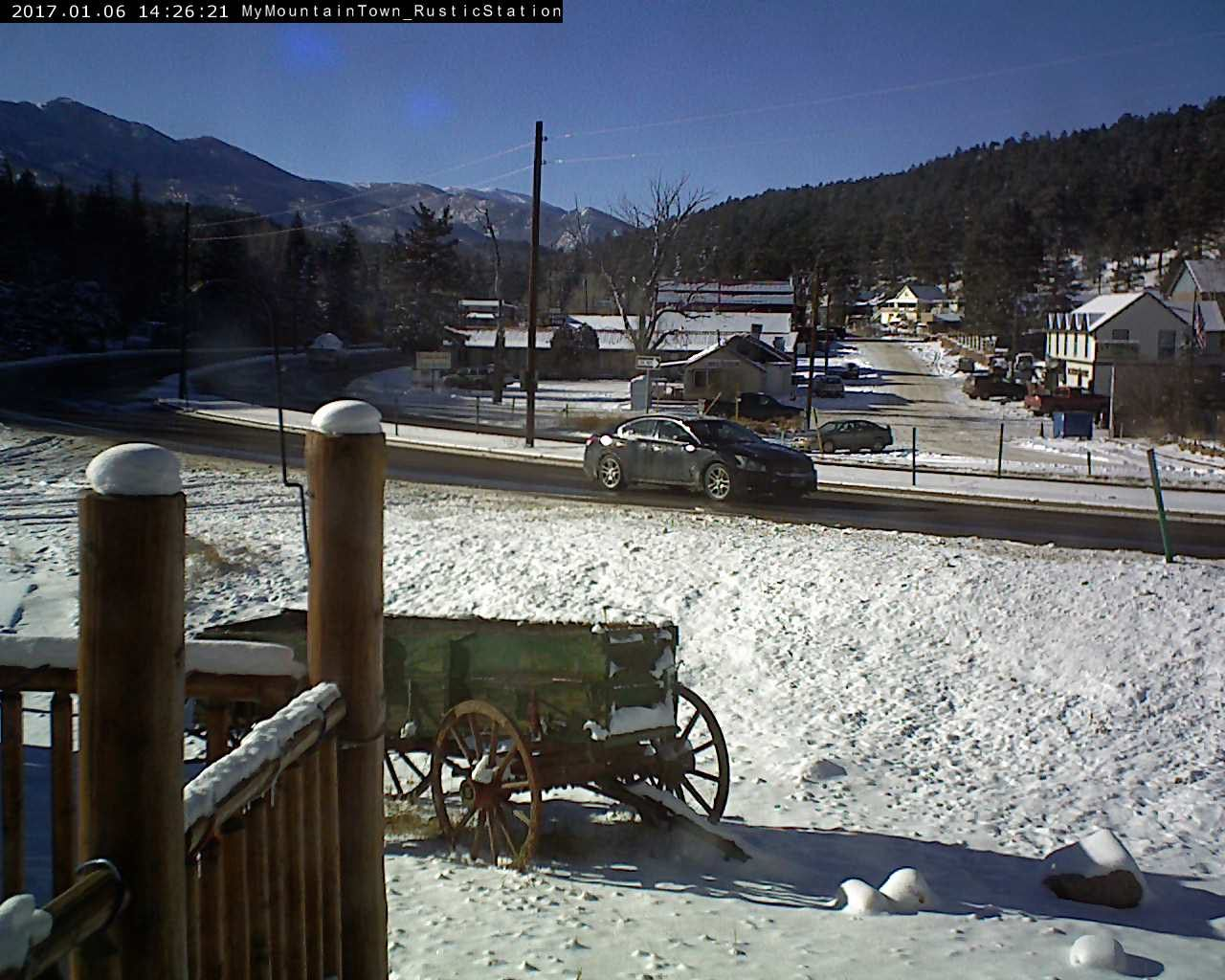 Our Downtown Bailey CO traffic webcam hosted at Rustic