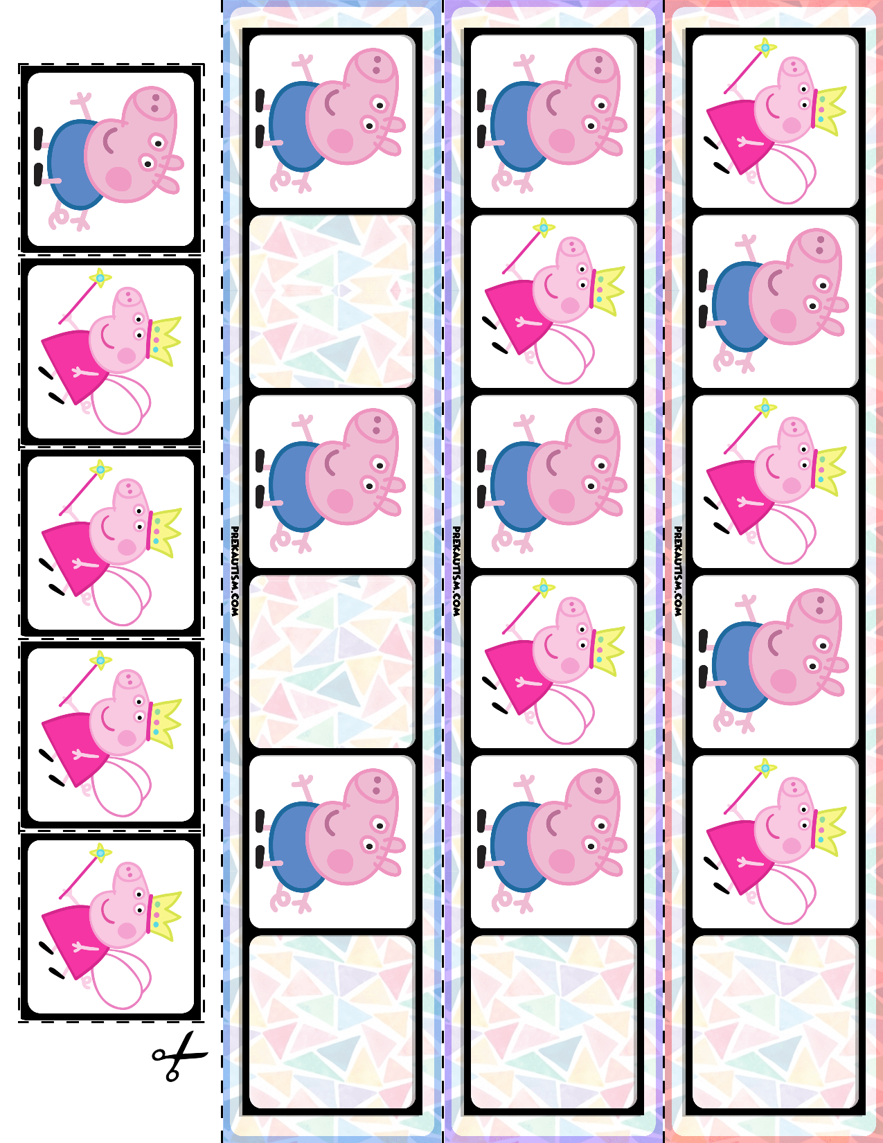 Preschool Peppa Pig Pattern Cards