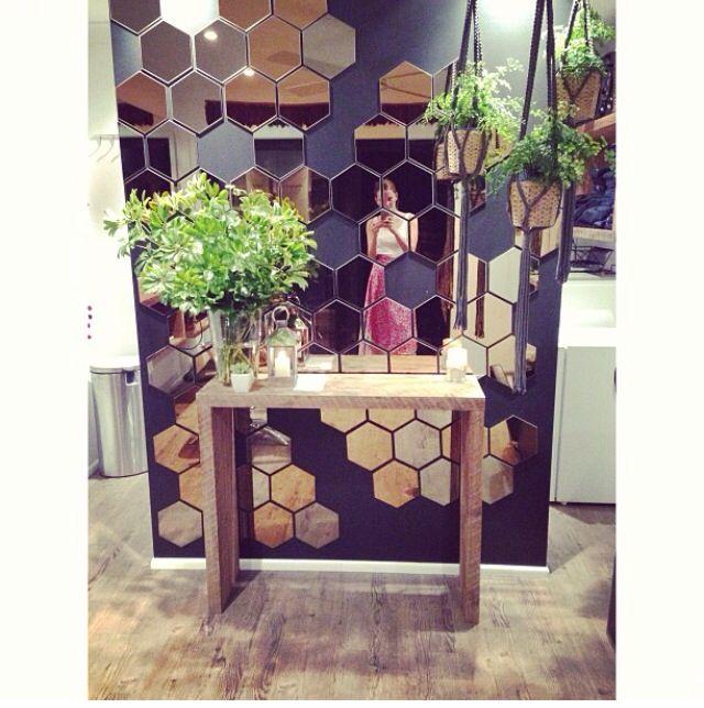 hexagonal mirror tiles