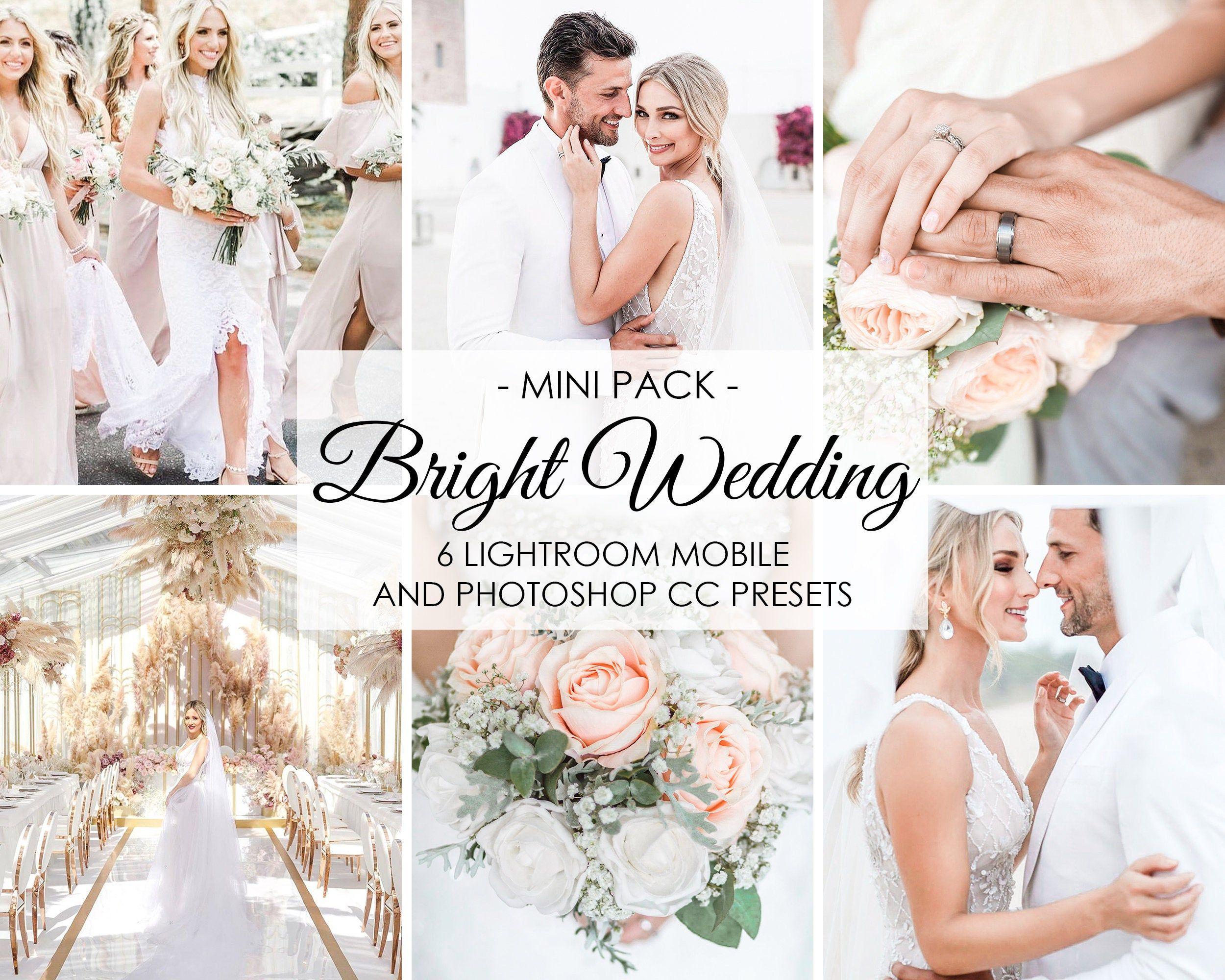 Wedding Presets 6 Presets Bright Wedding Lightroom Etsy Wedding Presets Bright Wedding Wedding Photography Tips
