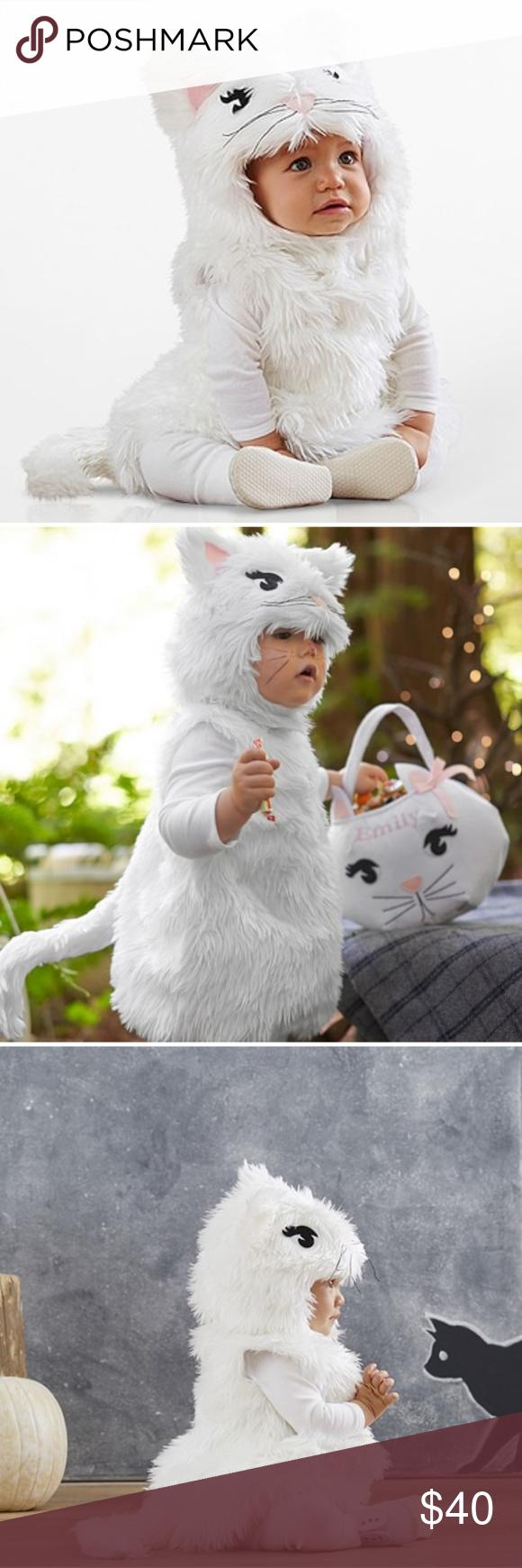 Pottery barn baby cat costume NEVER WORN...she wasn't
