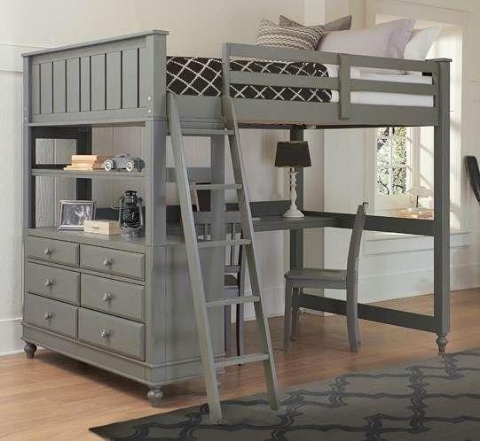 Full Loft Bed With Desk In Stone Loft Bed Desk Kids Loft Beds