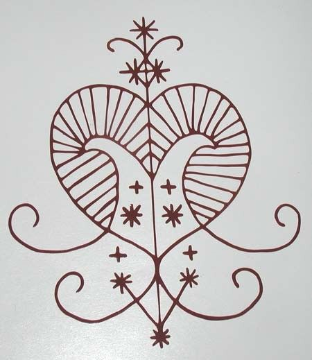 This Is A Voodoo Veve Of Erzulie Goddess Of Love Beauty And