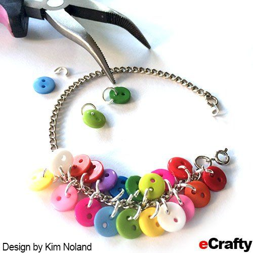 DIY Chakra Rainbow Button Charm Bracelet & Earrings Set ~ Recipe from eCrafty.com Illustrated instructions and supplies list #ecrafty #buttons #crafts #diyjewelry #charmbracelet http://ecrafty.wordpress.com/2014/04/07/diy-chakra-rainbow-button-charm-bracelet-recipe-from-ecrafty-com/