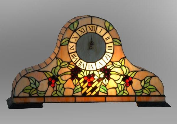Stained Gl Mantel Clock Tiffany Style I Want One