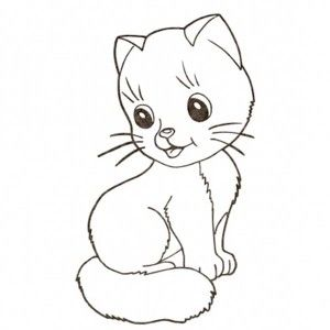 Very Cute Kitty Cat Sleeping In A Cup Coloring Page Kids Play