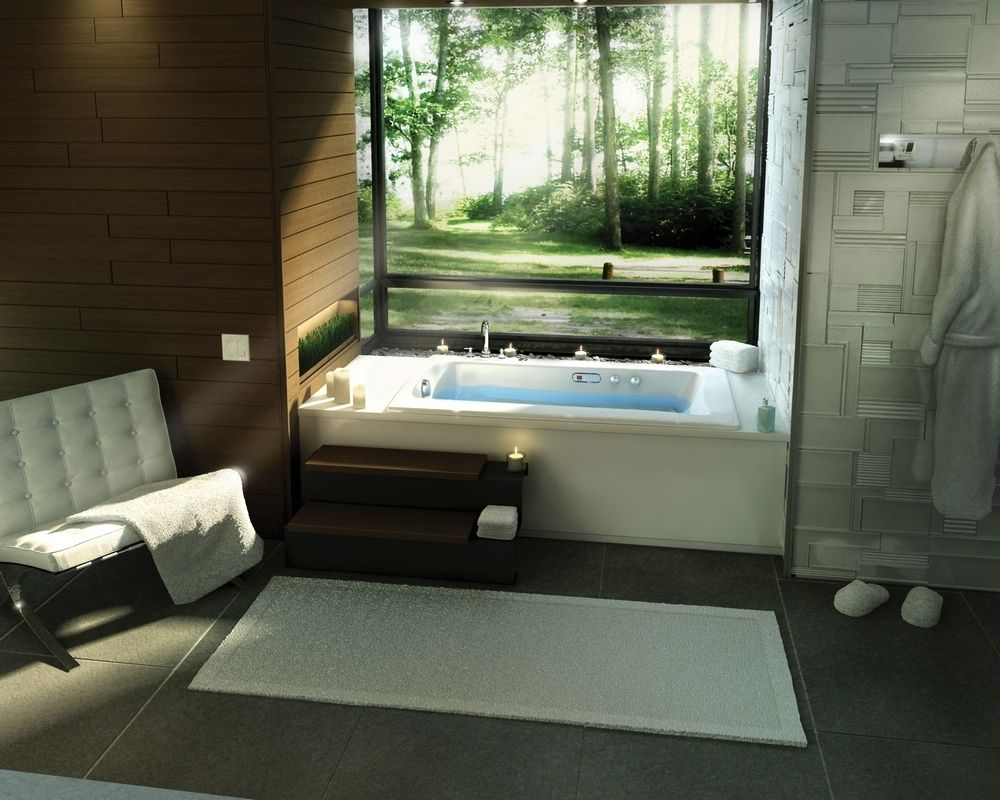 Beautiful Bathroom Designs With Bathtubs Decor Which Show A View Of ...