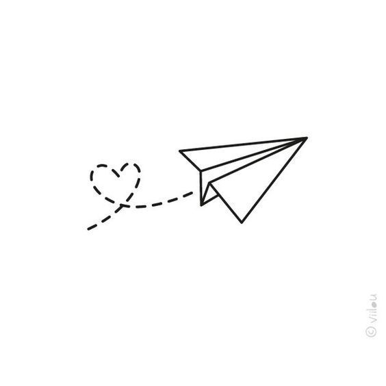 Paper Airplane Doodle Bullet Journal Plane Drawing Mini Drawings Plane Tattoo