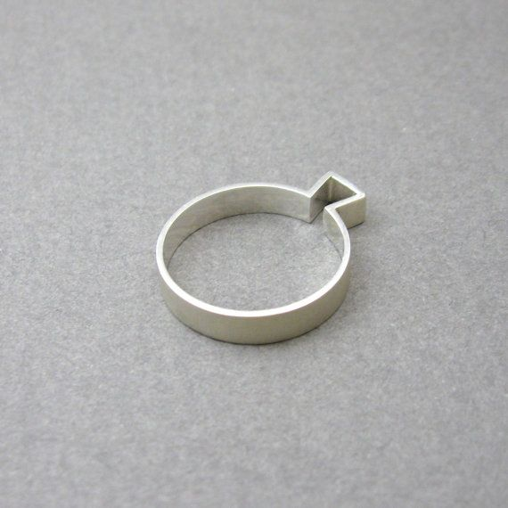 Modern silver ring, minimalist ring, recycled sterling silver, made ...