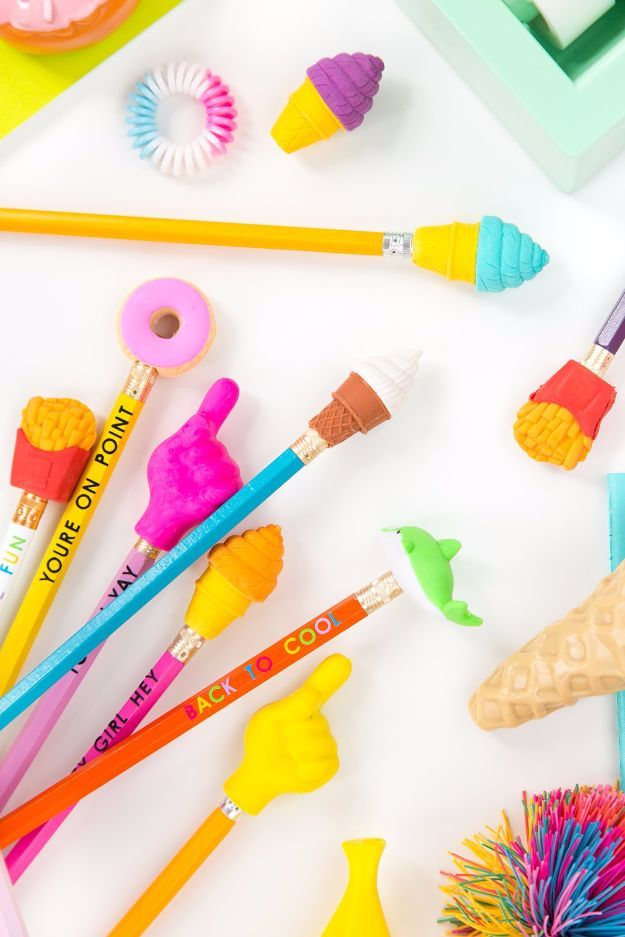 50 best back to school diy ideas pinterest diy school supplies diy school supplies super cute pencil toppers easy crafts and do it yourself ideas for back to school pencils notebooks backpacks and fun gear for solutioingenieria Images