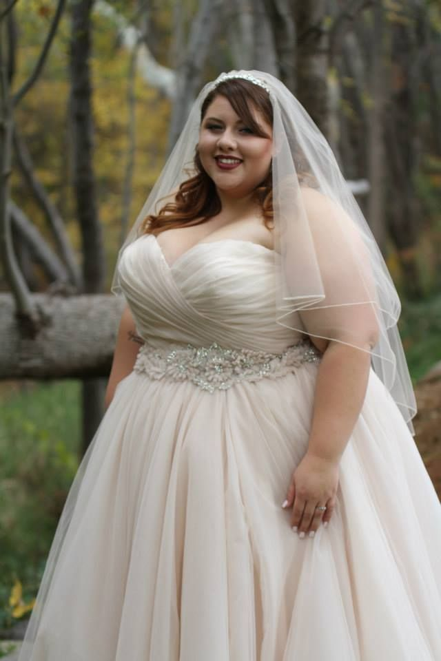 Custom plus size wedding dresses by darius bridal texas for Best wedding dress styles for plus size brides