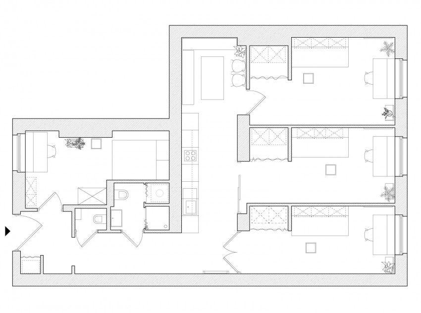 Adam Wierciński Designs a Tiny Apartment in Poznan, Poland Tiny