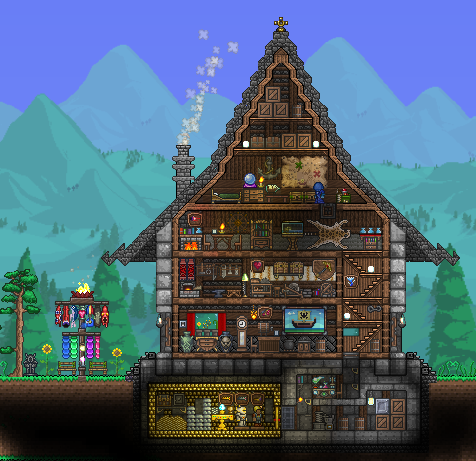 Exquisite house terraria and house for Terraria house designs