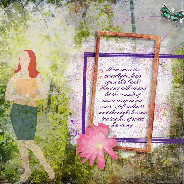 Layout using Fly Away Butterfly Papers & Butterflies, Artsy Templates 1 & 4 and Dressed Up {Droplet}, all by he{art} journaling  #heart