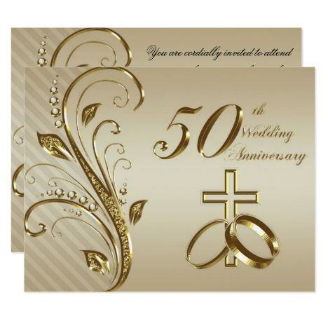 50th Wedding Anniversary Invitation Card Zazzle Com In