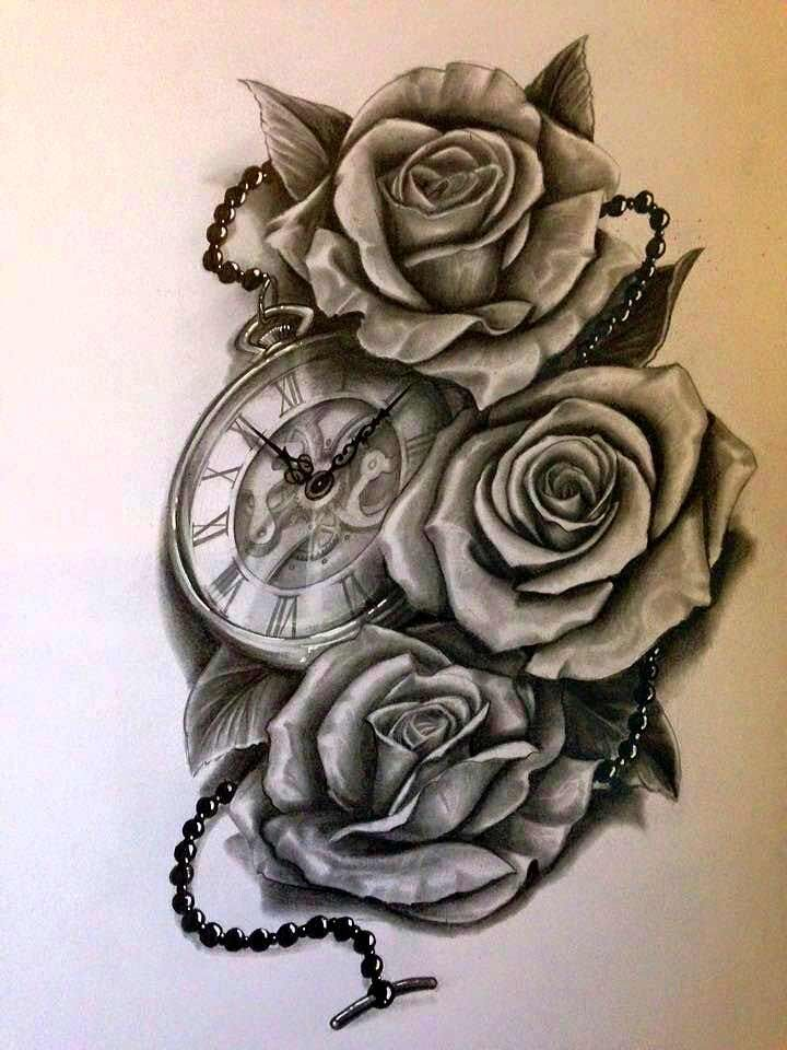 Rose Clock Tattoo Designs Drawing: 378fe593f819bd4615133e16cc5278d8.jpg (720×960)