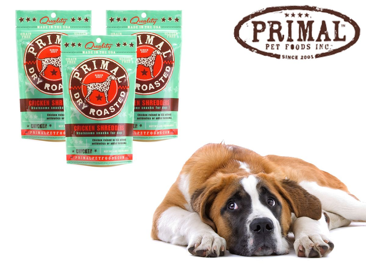 Primal USA Made Chicken Shredders Dog Treats on Sale www