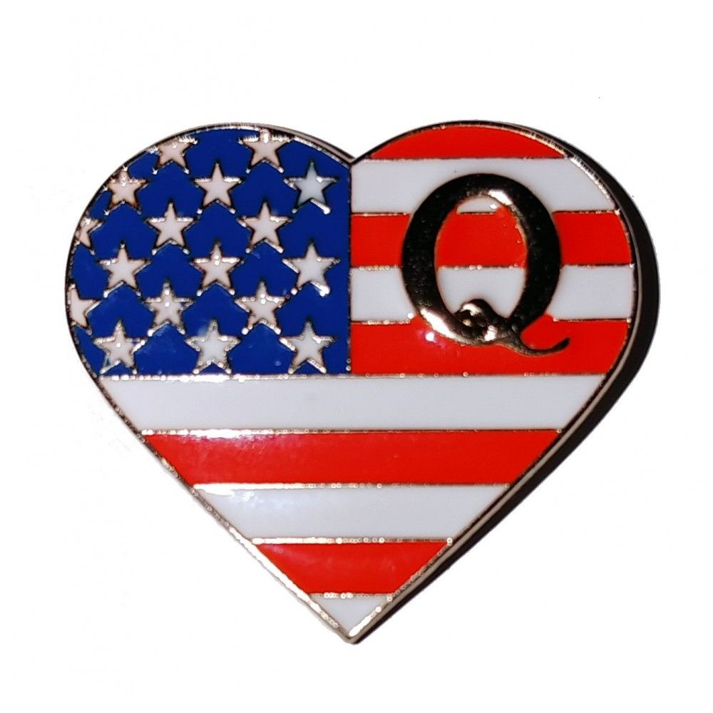 The Patriot Heart Q Flag Pin Made In The Usa In 2020 Flag Pins Flag Patriots