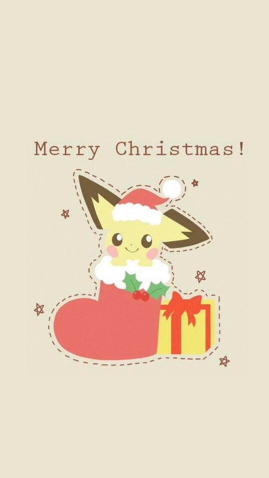 Merry Christmas Christmas Pokemon Anime Christmas Pikachu Wallpaper