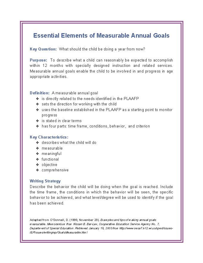 Creating Meaningful Measurable Ece Goals Apples For The Teacher