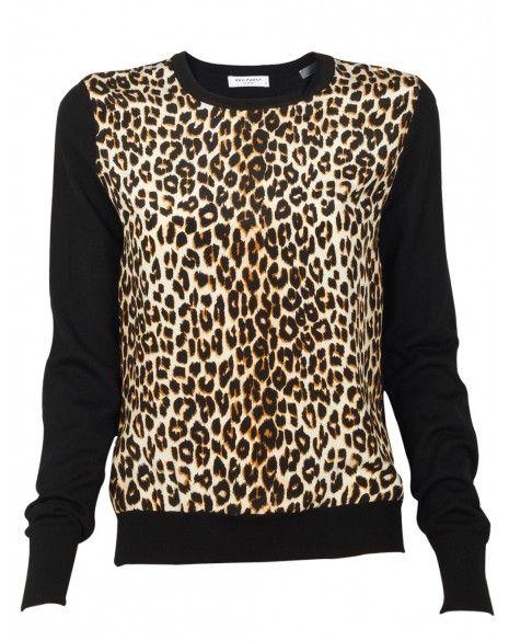 Roland Leopard Crew Sweater