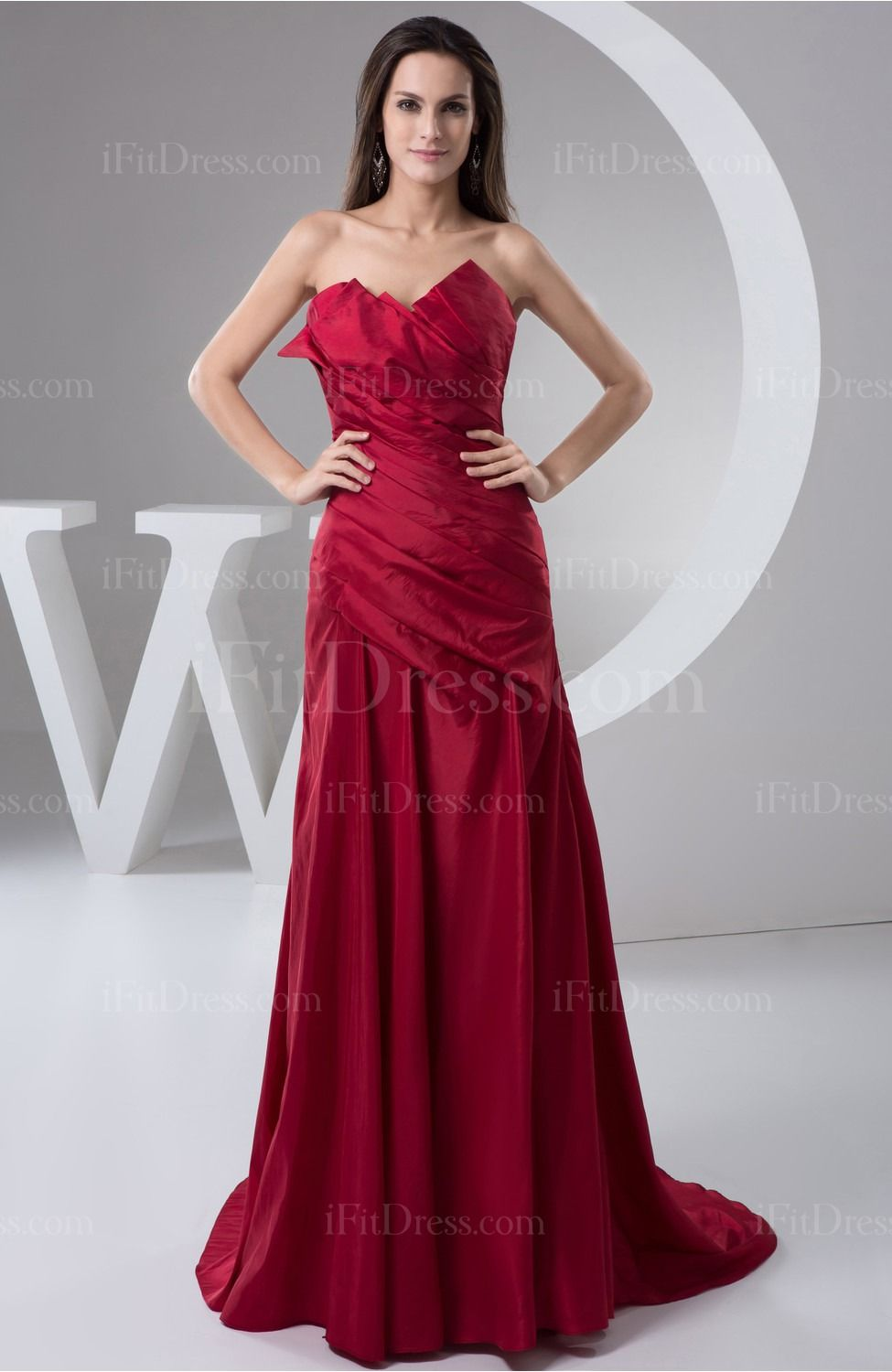 Dark red inexpensive homecoming dress long winter a line semi formal