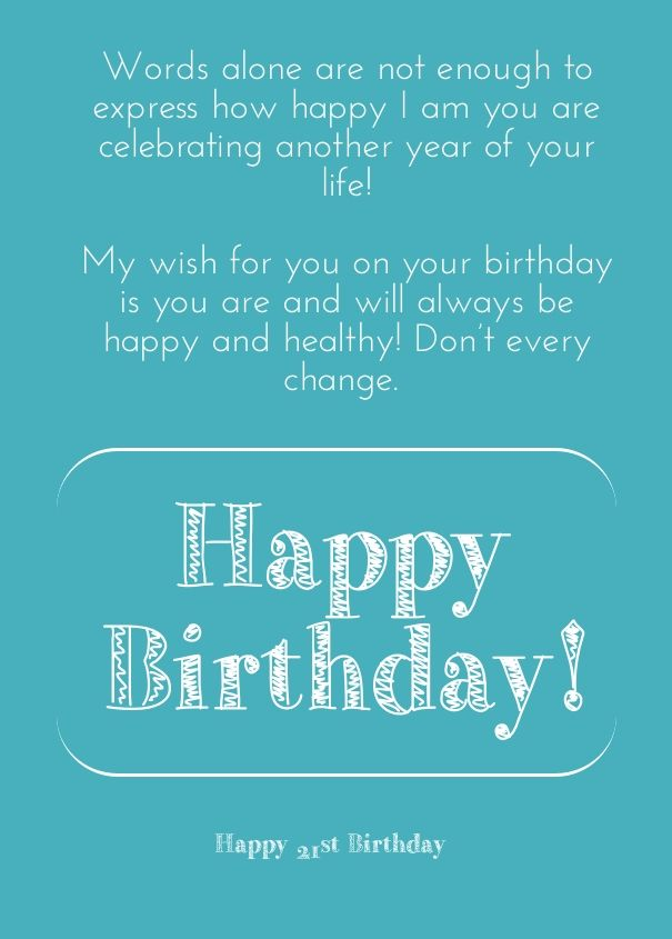 happy 21st birthday wishes for a friend Planners \ Printables - printable best friend birthday cards