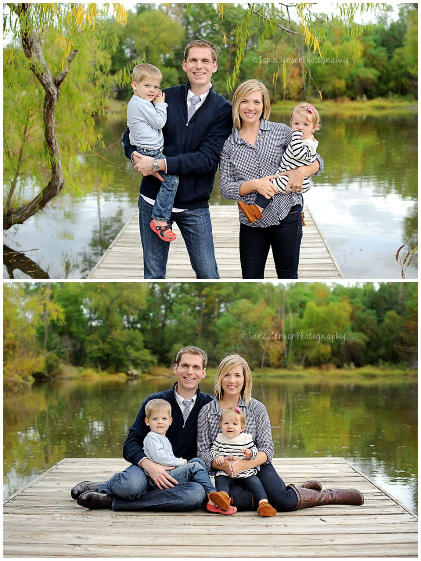 Family Lake Session - Boat Dock - Family Pictures - Fall - Sunset ...
