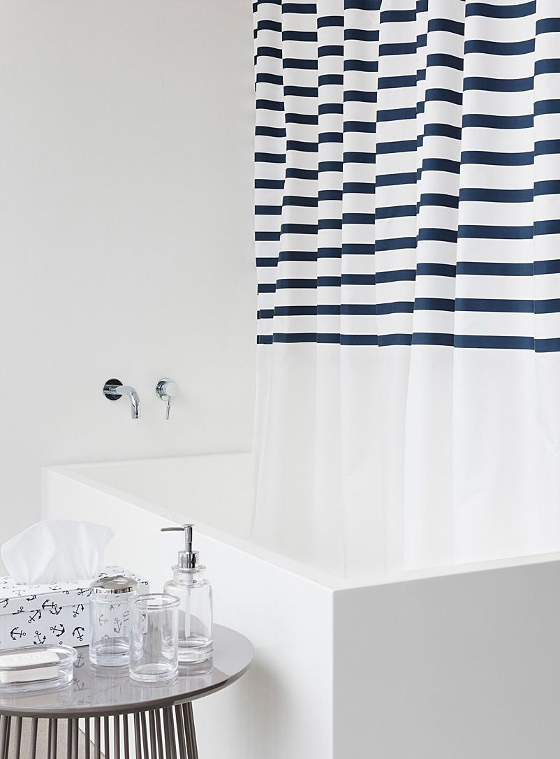 Key west stripe shower curtain pinterest rusted metal pure