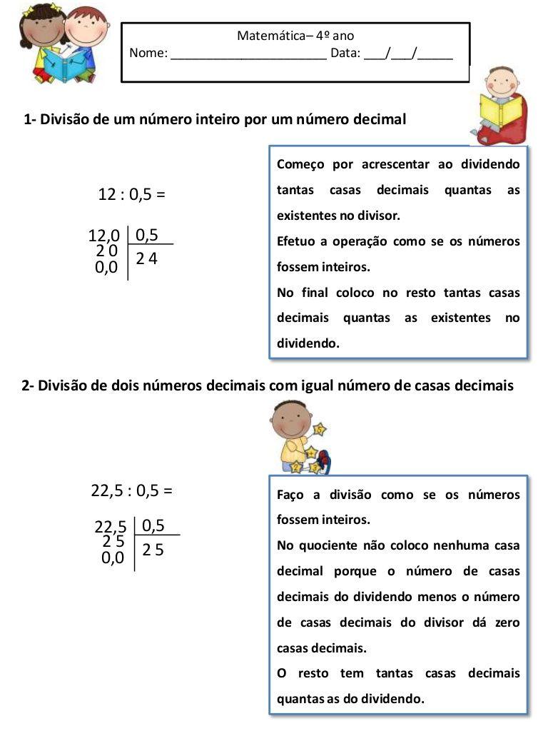 Amado Regras da divisão com numeros decimais by MSSFG via slideshare  XR09