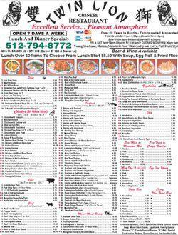 Chinese Cuisine Austin Tx Twin Lion Restaurant Menu