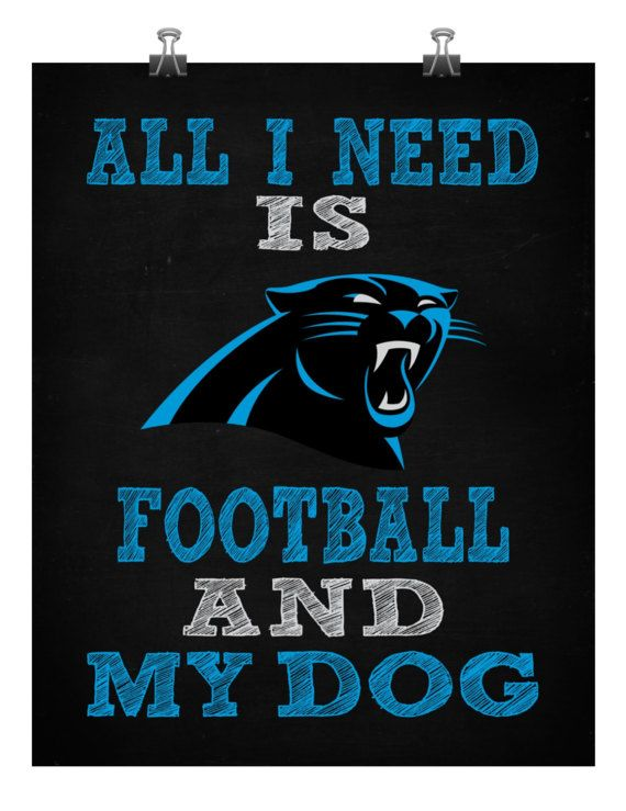 Carolina Panthers Wall Decor Dog Sign All I by TWDesignsWarsaw | Fan ...