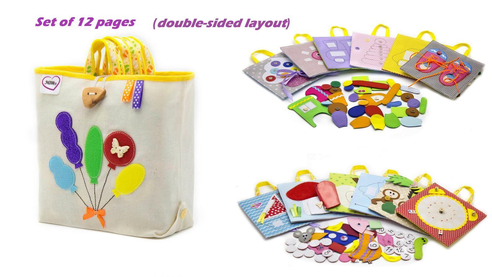 Photo of PERSONALIZADO Desarrollo de un juguete de viaje para niños pequeños, libro silencioso de 6 a 12 páginas, regalo de actividades de tela para niños de 1 a 4 años – MiniMom & # 39; s
