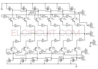 How To Parallel Final Transistor Power Amplifier Audio Schematic