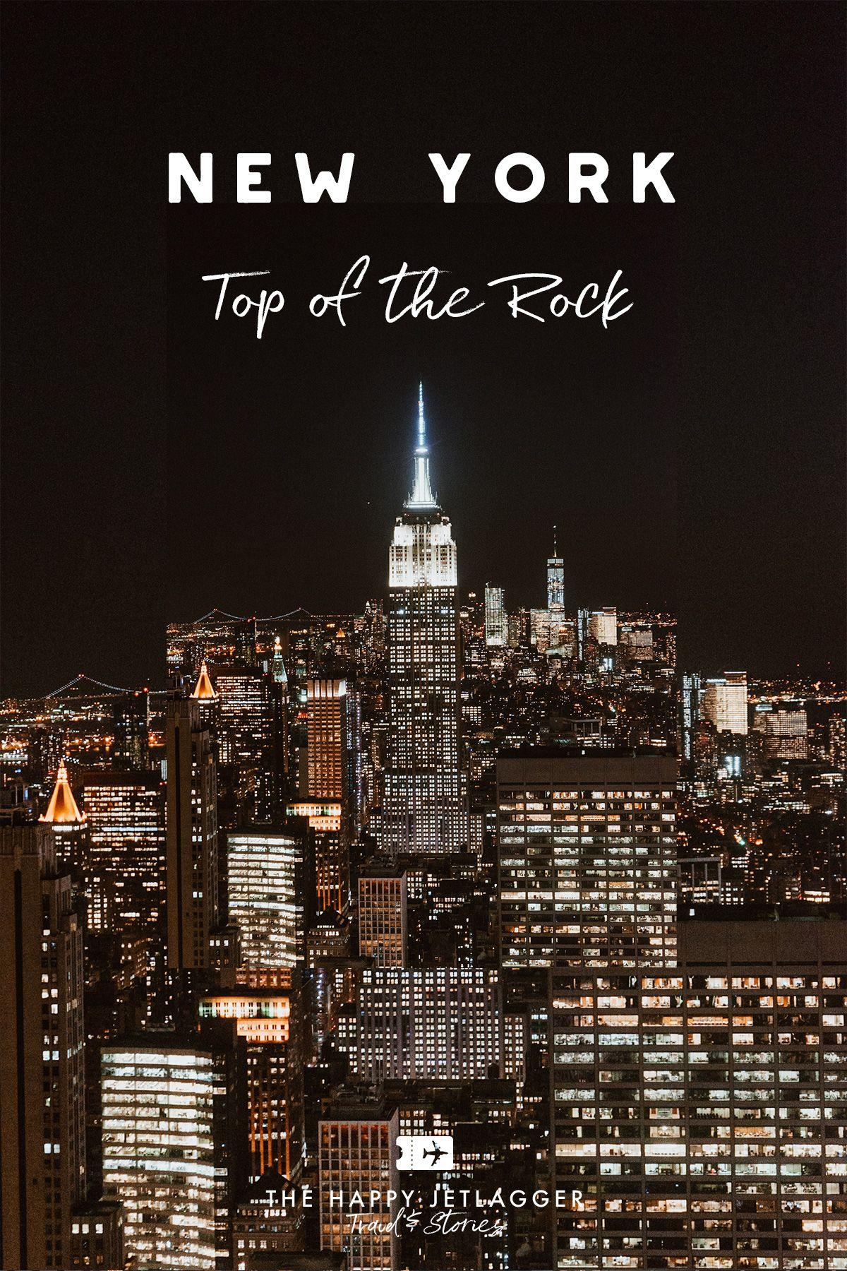 Top Of The Rock In New York City Best Sunset Over Manhattan New York Travel Guide New York City Travel New York Travel