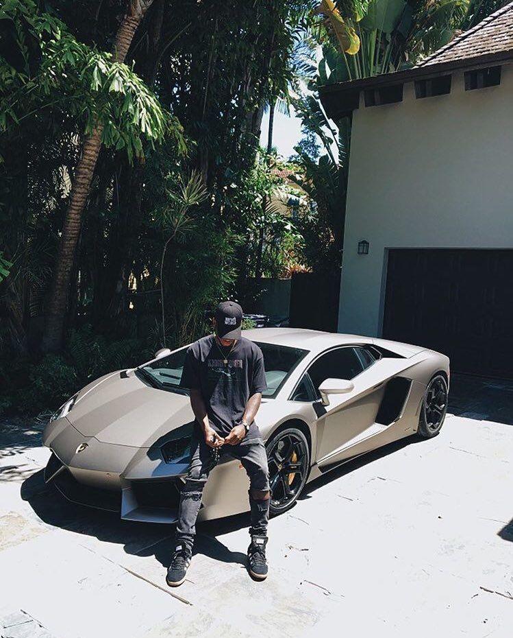 Bryson Tiller Lamborghini Car Poses Travis Scott Bryson Tiller
