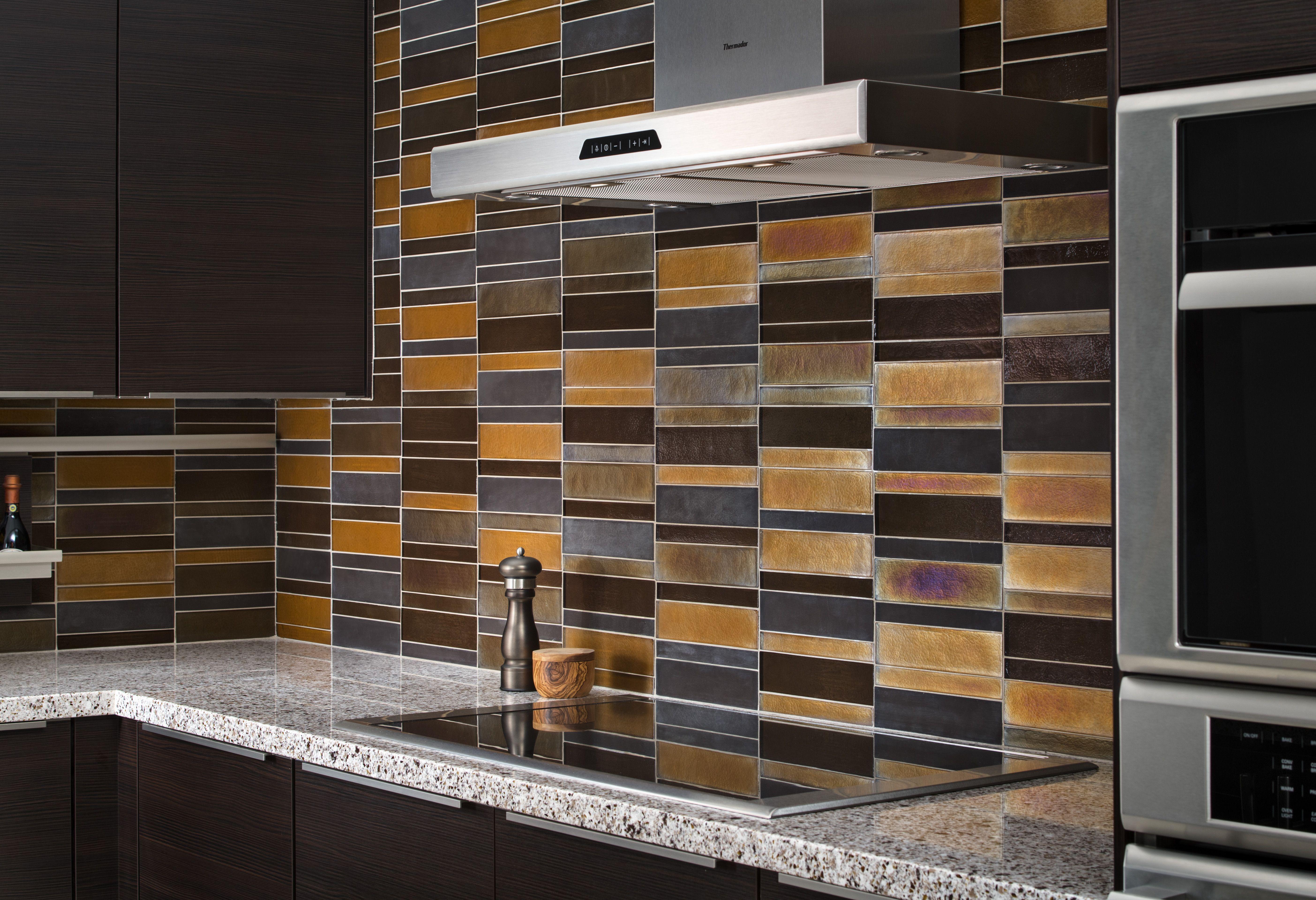 Elevation Kitchen Glasstile Field backsplash Harvest Truffle design ...