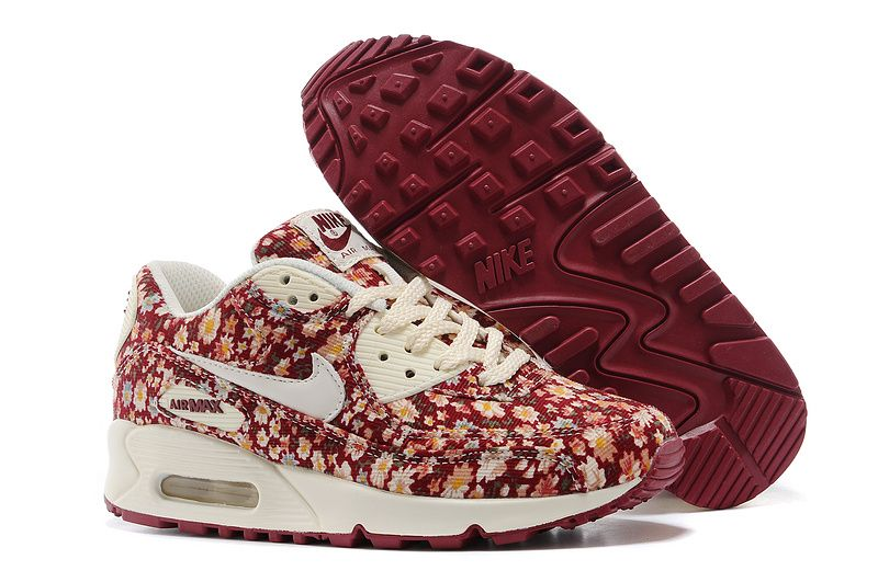 Cheap Nike Air Max, Nike Free Run Online Shop Nike Air Max 90 Peony Floral  Womens Running Shoes [Nike Free 2014 -