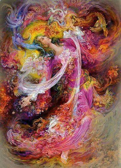 """Words of Wisdom: Rise   """"Don't ever think I fell for you, or fell over you. I didn't fall in love, I rose in it.""""  - Toni Morrison  http://www.thesmartwitch.com  [Image: The art of Mahmoud Farshchian. Visit this talented artist at: http://www.farshchianart.com.]"""