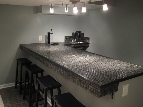 bar tile bar room glass tile